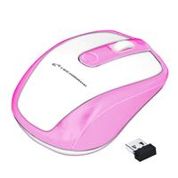 TECHMADE MOUSE OTTICO WIRELESS WHITE/PINK