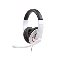 TECHMADE GEMBIRD CUFFIE STEREO GLOSSY WHITE