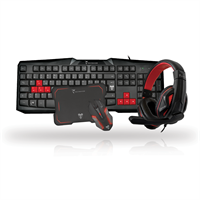 TECHMADE KIT GAMING 2 TASTIERA-MOUSE-CUFFIE-PAD